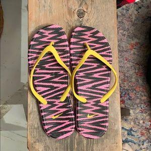 Nike flip flops. Size 10